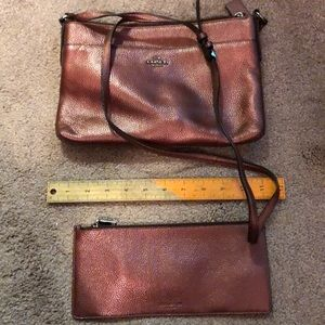 Coach purse with wallet insert